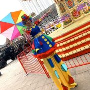 Clumsy Clown On Stilts London