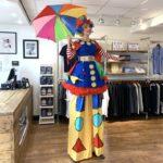 Clumsy Clown On Stilts London