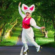 Bunny Roller Skater Professional