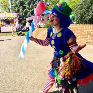 Clumsy Clown Balloon Entertainer