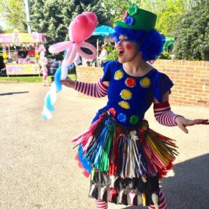 Clumsy Clown Balloon Modeller London