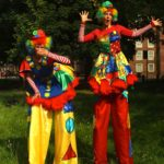 Clumsy Clown Stilt Duo Performers
