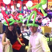 Corporate Guests with Balloon Modelling Hats