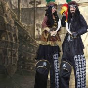 Perilous Pirate Stilt Walking Duo