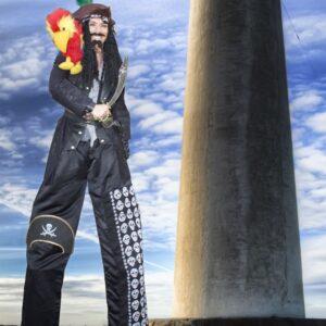 Perilous Pirate Stilt Walking Entertainer