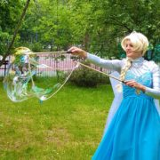 Queen Elsa Lookalike Bubbleology
