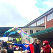 Superman Giant Bubble Performance