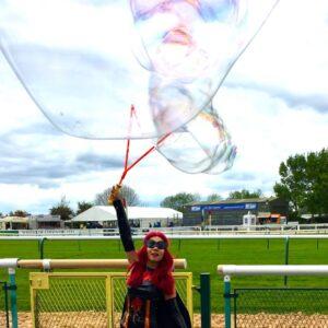 Batwoman Lookalike Giant Bubbles