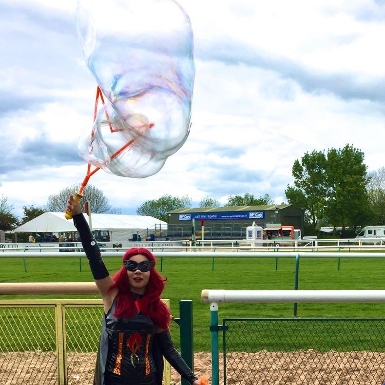 Batwoman Lookalike Bubble Meet & Greet