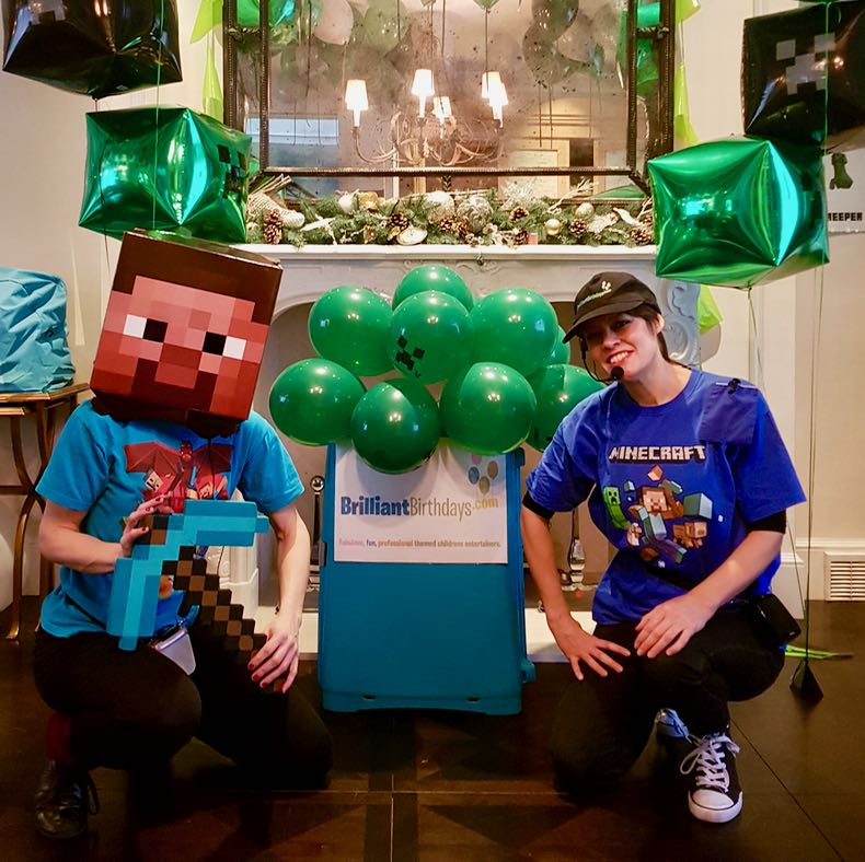 Minecraft Lookalike Duo Party