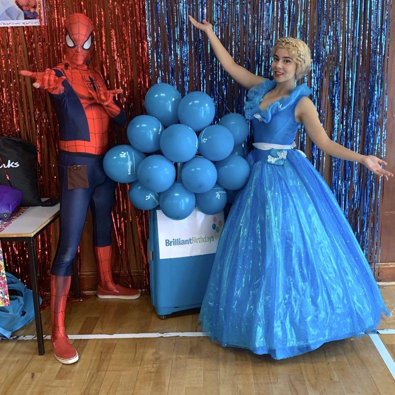 Cinderella & Spiderman Lookalike Party