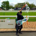 Batman Lookalike Bubble Performer